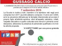 Ripresa Scuola Calcio stagione 2015/2016