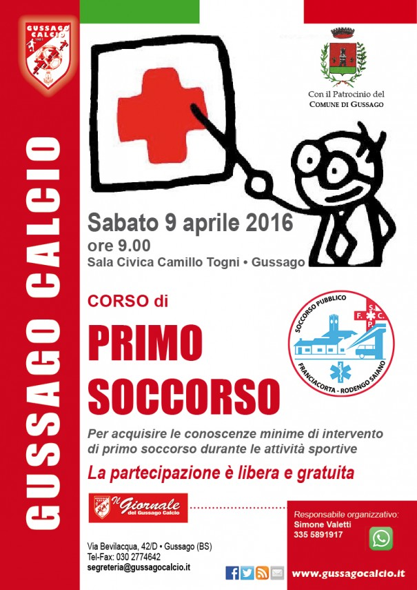 Corso Primo soccorso 2016