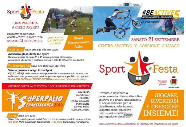 Sport in Festa settembre 2019