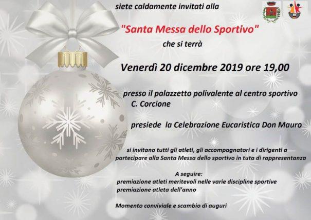 Santa Messa Sportivo dicembre 2019